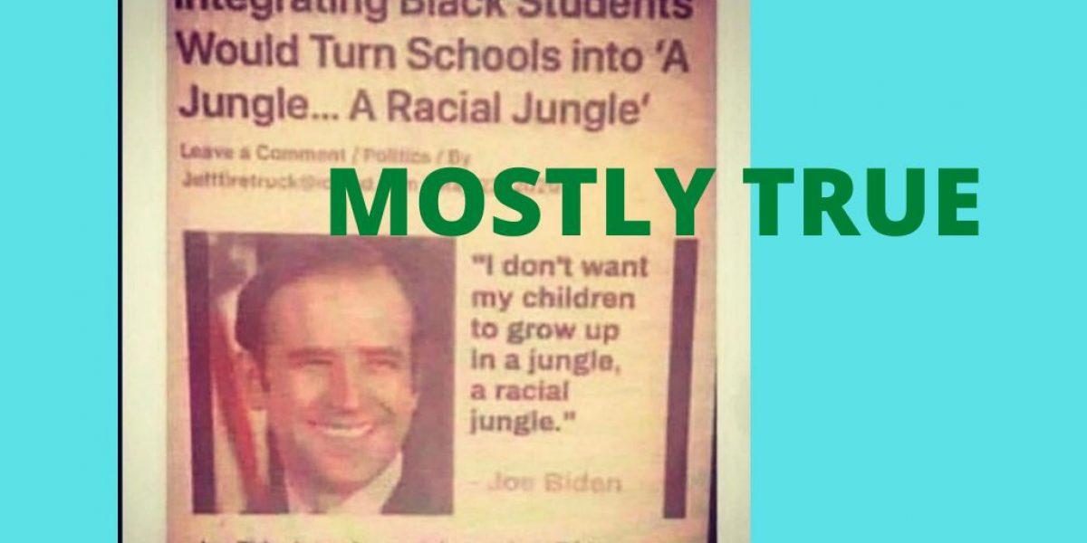Biden integration-mostly true