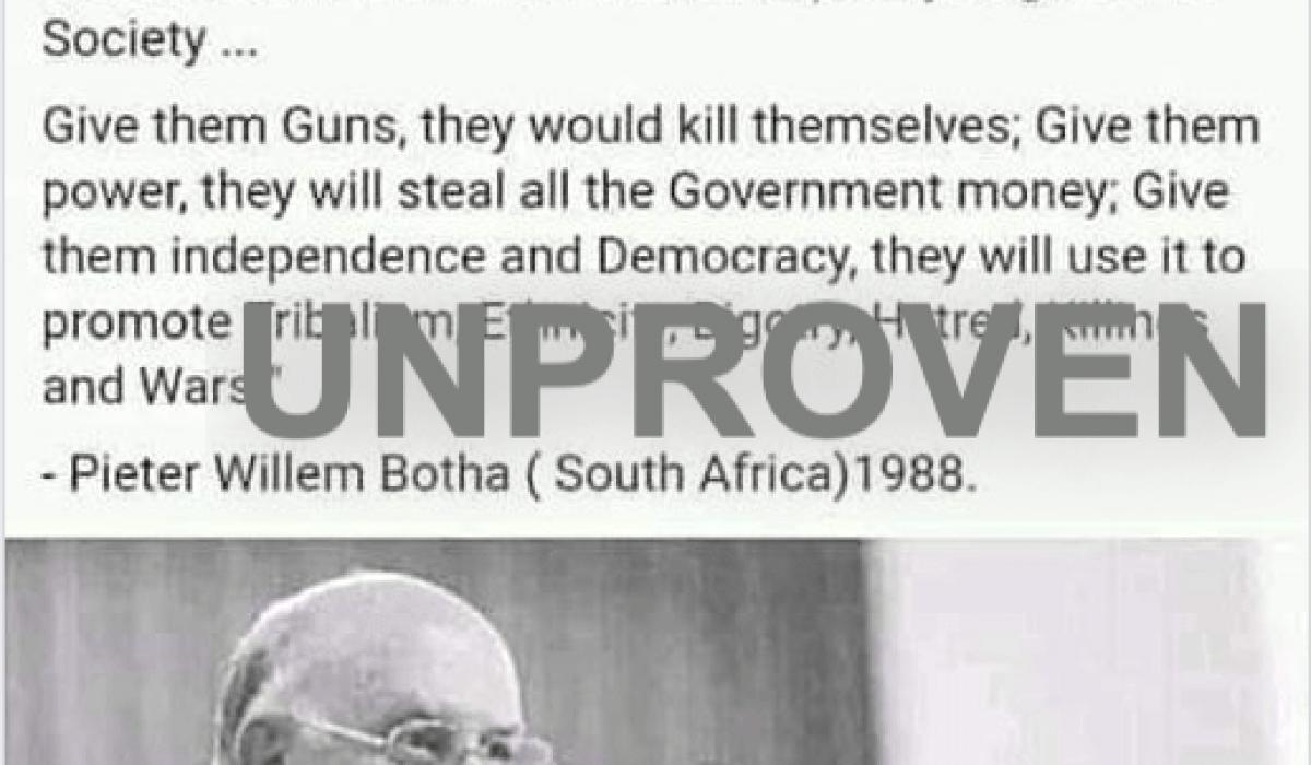 Botha-racist-quote