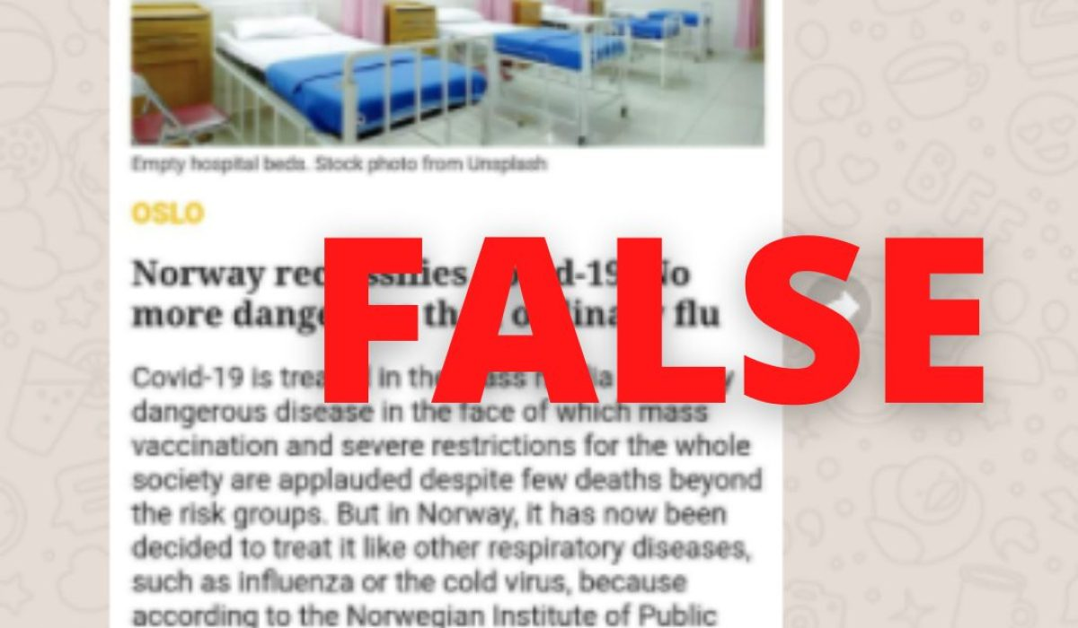 Norway flu hoax