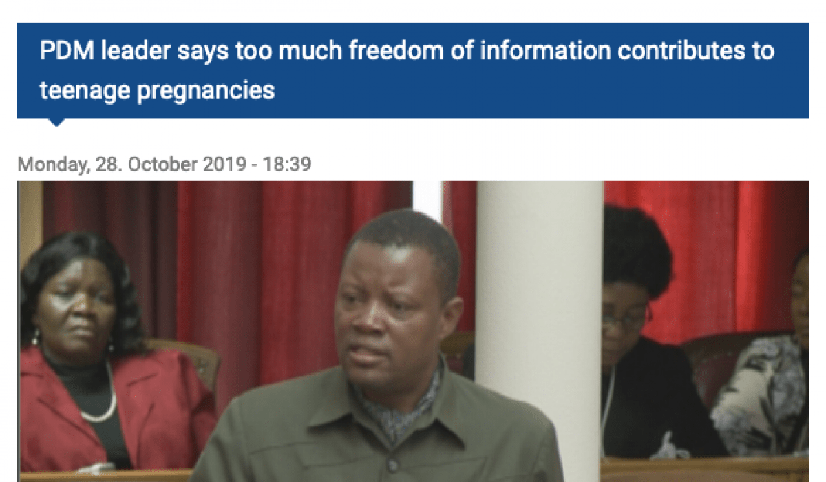 Screenshot_2019-11-29 PDM leader says too much freedom of information contributes to teenage pregnancies