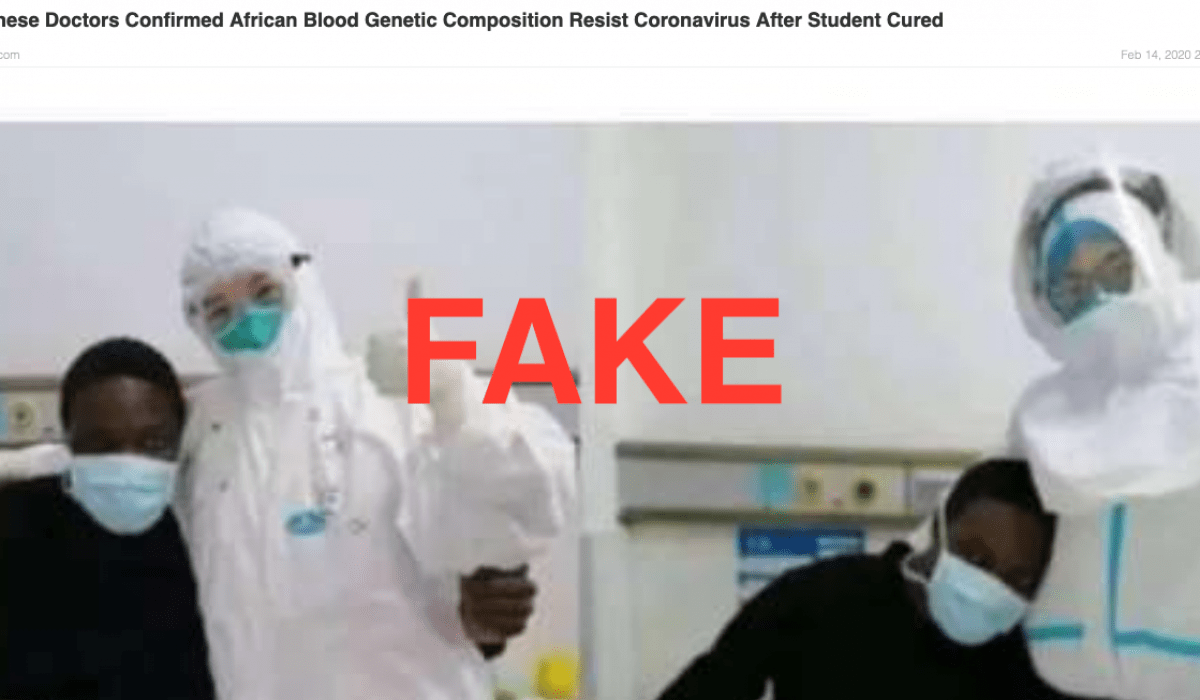 Screenshot_2020-03-10 Chinese Doctors Confirmed African Blood Genetic Composition Resist Coronavirus After Student Cured