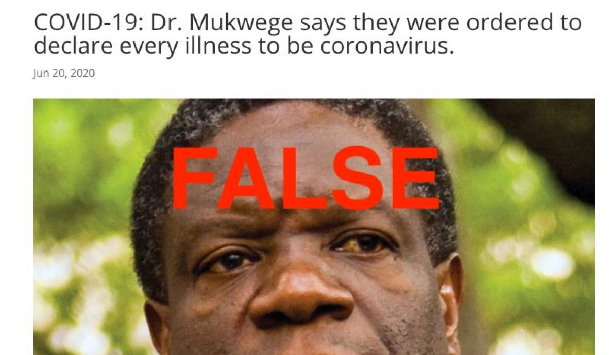 Screenshot_2020-06-21 COVID-19 Dr Mukwege says they were ordered to declare every illness to be coronavirus - Kiffasblog